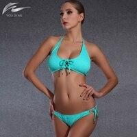 Sexy Gather Bikini Set Women Push Up Swinsuit Swimwear Two Pieces Swimsuit S M L For