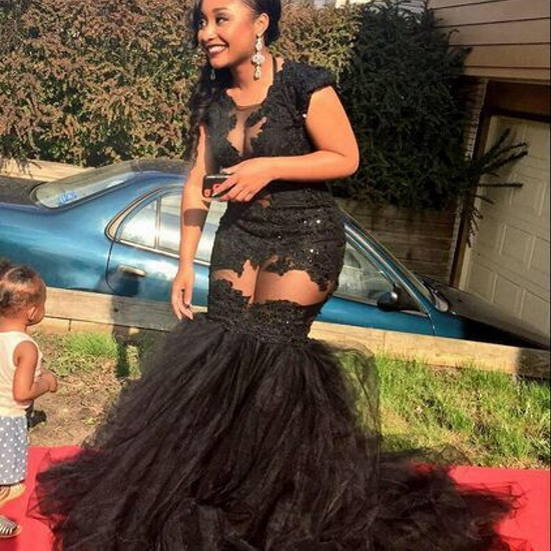 Aliexpress.com : Buy Sexy Black African Mermaid Evening Dresses ...