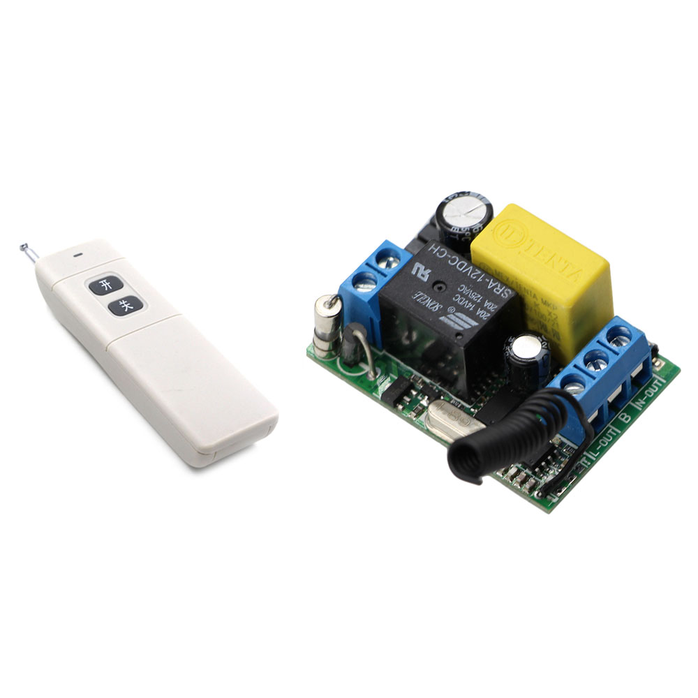 Best Price AC 220V 1CH  Wireless Remote Control Lighting Switch Receiver & 2Key Transmitter ON OFF  for Water Pump & Windows best price 5pin cable for outdoor printer