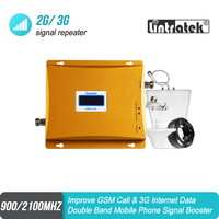 Hot sale!! LCD GSM 900 3G Signal Dual Band Repeater GSM 900mhz 3G UMTS 2100mhz Cell Amplifier GSM 3G WCDMA 2100 Cellular Booster