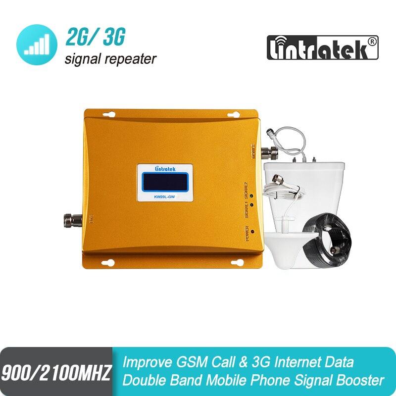 Offre Spéciale!! LCD GSM 900 3G Signal Double Bande Répéteur GSM 900 mhz 3G UMTS 2100 mhz Cellulaire Amplificateur GSM 3G WCDMA 2100 Cellulaire Booster