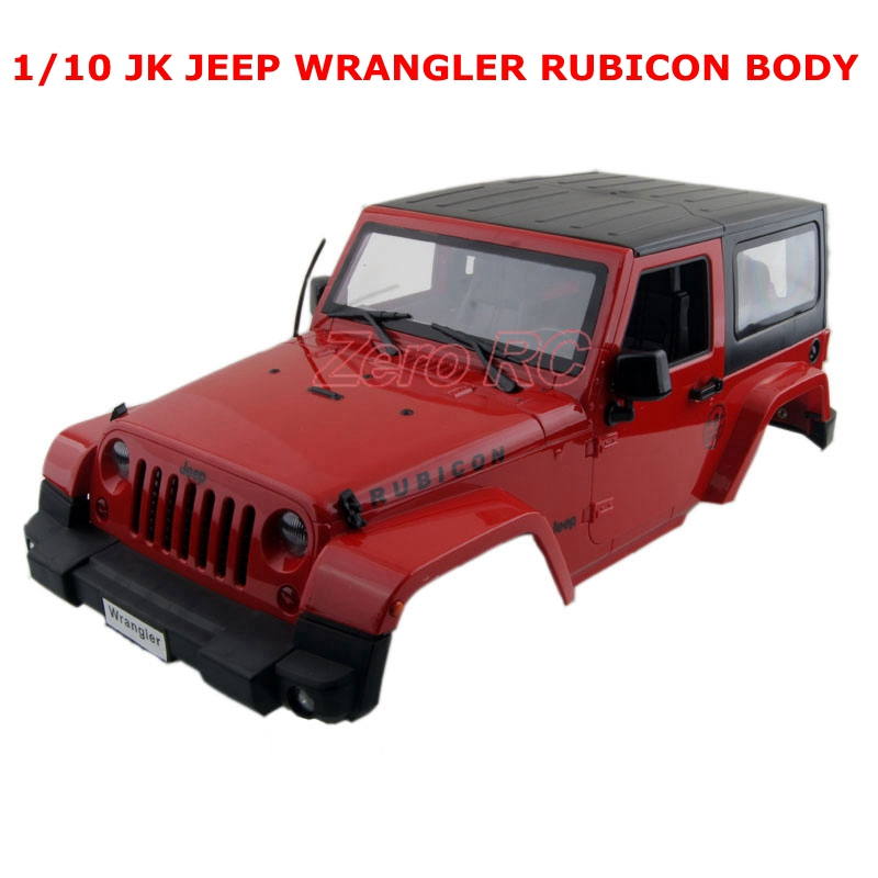 RC 1 10 SCALE RED HARD PLASTIC JK JEEP WRANGLER RUBICON BODY SHELL FOR RC4WD D90
