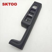 For Skoda Superb door handle,front left door armrest box,driver side inner handle frame,the lifter switch box black цены онлайн