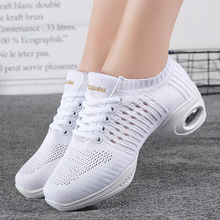 цена на Breathable Ladies Dance Shoes Women Comfortable Soft Sneakers Girl Indoor Practice Modern Dance Jazz Shoes Anti-Slippery Damping