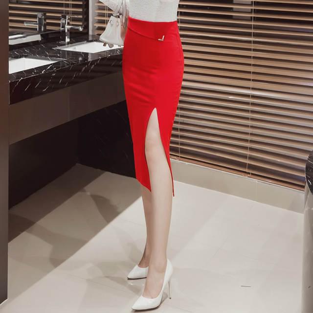 a748634fe67e4 S-5XL Women Pencil Skirt Plus Size New Fashion Mid-Calf Long Skirt Casual