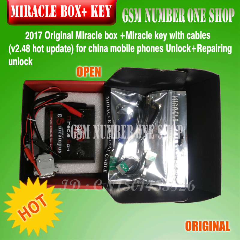 miracle Box and key -GSMJUSTONCCT-A2