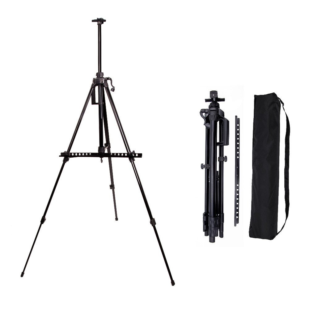 Bianyo Mini Sketch Easel for Artist Painting Aluminum Alloy Adjust Metail Easel Drawing Set Stand Hand