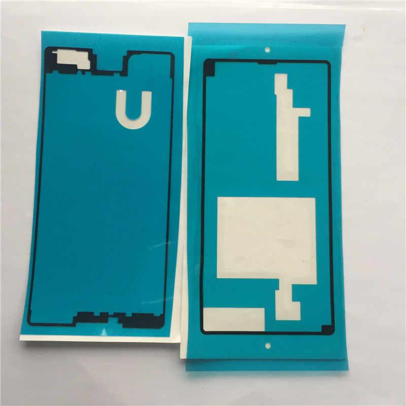 Haute nouvelle avant + arrière adhésif colle ruban autocollant pour Sony Xperia M5 E5603 E5606 E5653 M5 double LCD boîtier cadre couverture de batterie arrière
