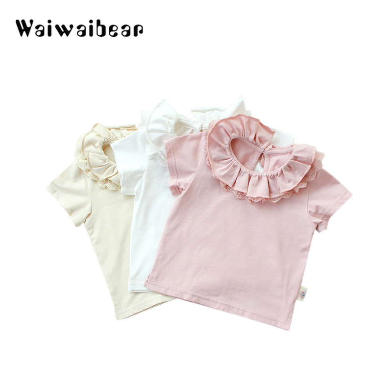Baby, Collar, Floral, Quality, T-Shirt, Casual