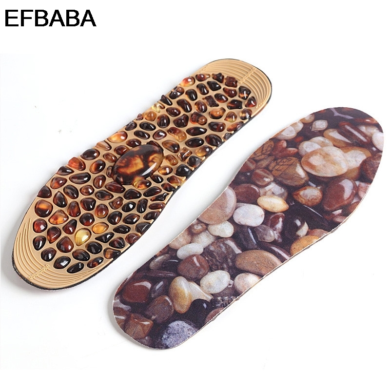 EFBABA Men Women Shoes Insoles Pads Rubber Cobblestone Foot Relief Massage Point Design Foot Cushion Relax Shoe Pad Accessoires efbaba silicone gel insole women shoe pad arch supports massage foot pad heel pain relief orthopedic shoes insoles accessoires