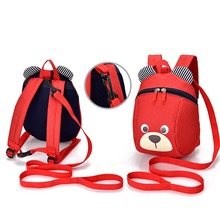 2019 Children Boy Girl Plush Travel Backpack Bag 1-6Y New Cute Anti-lost Student Plush Backpack Baby Girls Cartoon Bear Bag коляска rudis solo 2 в 1 графит ягодный принт gl000401687 492581
