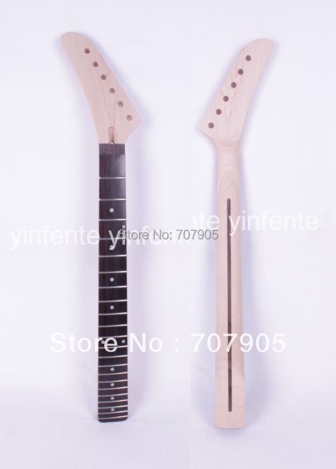 New Unfinished electric guitar neck Truss Rod 22 fret 25.5 Free shipping Dropshipping Wholesale 1 pcs 6pcs steel double truss rod for electric guitar luthier two way adjustment