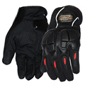 Favorable motorista de la motocicleta guantes llenos moto Motocross antideslizante suave cáscara dura Buffer diseño equipo de protección guante para hombre