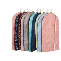 Sivin Breathable Colorful Garment Bag Covers With See Through Window For Suit Carriers Dresses Linens Storage