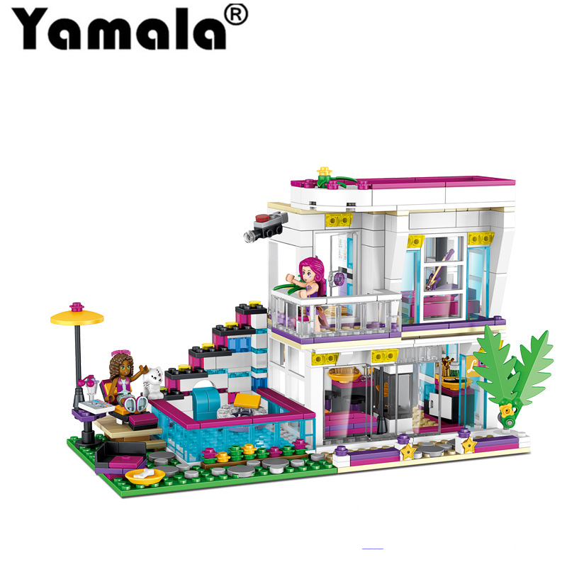 [Yamala]Friends Livi's Pop Star House Compatible With Building Block Set Andrea Brick Toy For Girls Compatibility With Lego цена и фото