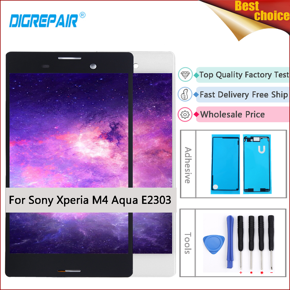 m4 aqua display For Sony Xperia M4 Aqua lcd E2303 E2306 E2353 E2333 LCD Display Digitizer Touch Screen For sony m4 aqua screen