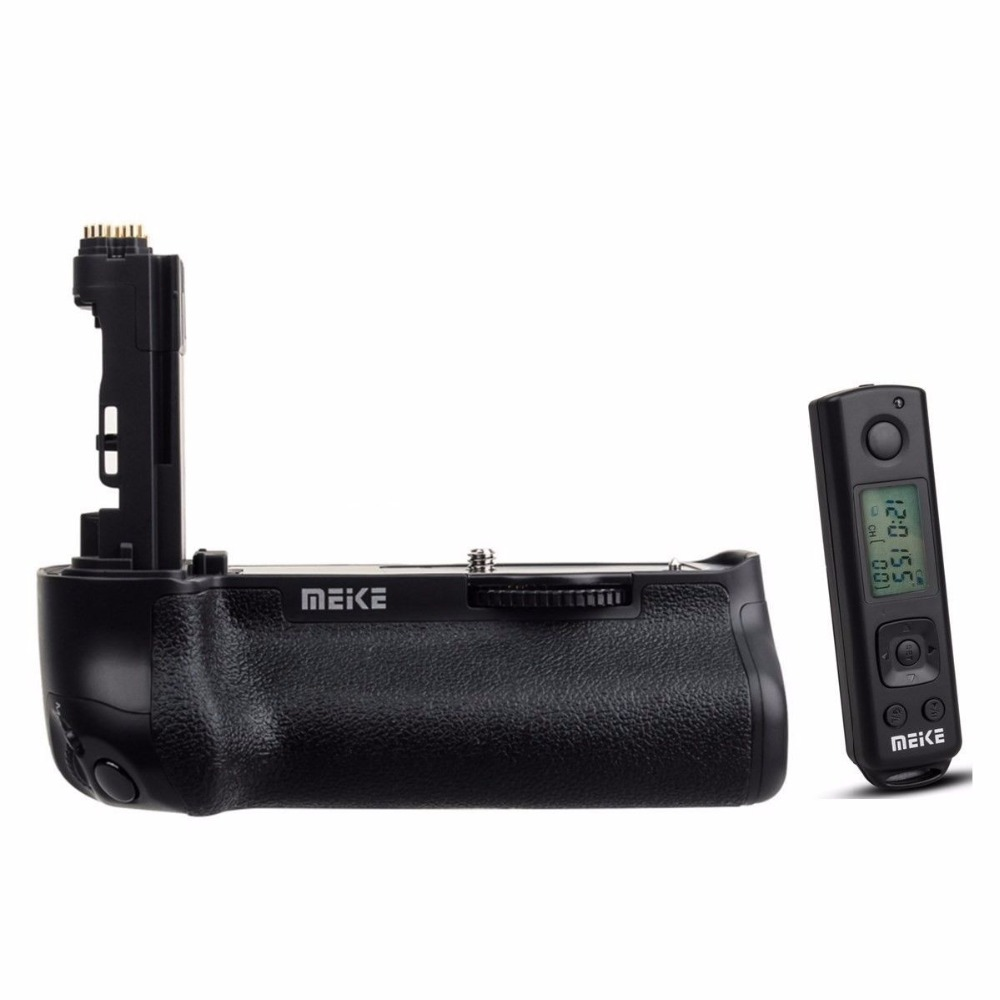 Meike MK-5D4 PRO Battery Grip With 2.4G Wireless Remote for Canon 5D Mark IV Camera as Canon BG-E20 for LP-E6 LP-E6N Battery puluz camera vertical battery grip for canon eos 5d mark iv dslr camera replace bg e20 compatible for lp e6 lp e6n battery