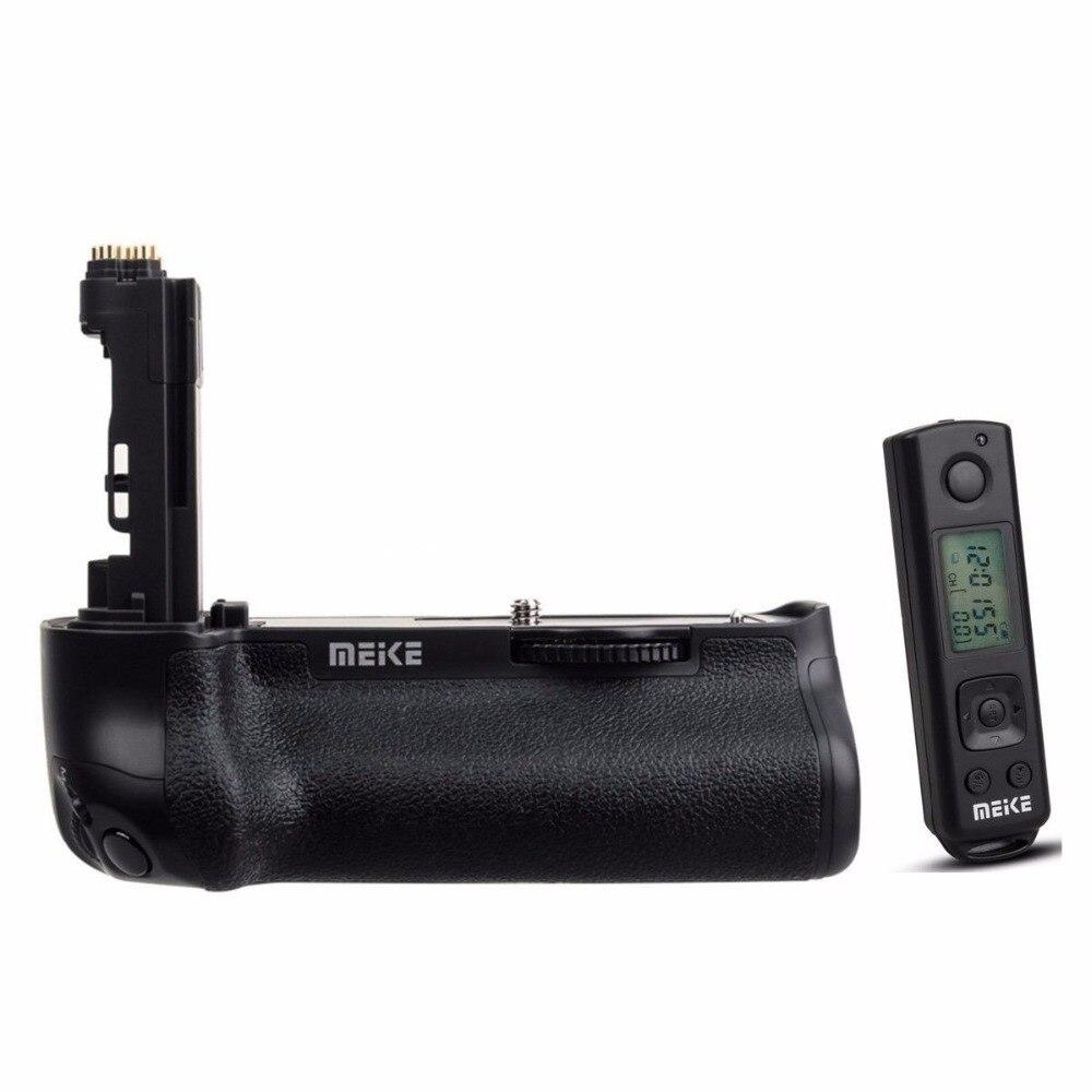 Meike MK-5D4 poignée de batterie verticale PRO avec télécommande sans fil 2.4G pour appareil photo Canon 5D Mark IV comme BG-E20 pour batterie de LP-E6 LP-E6N
