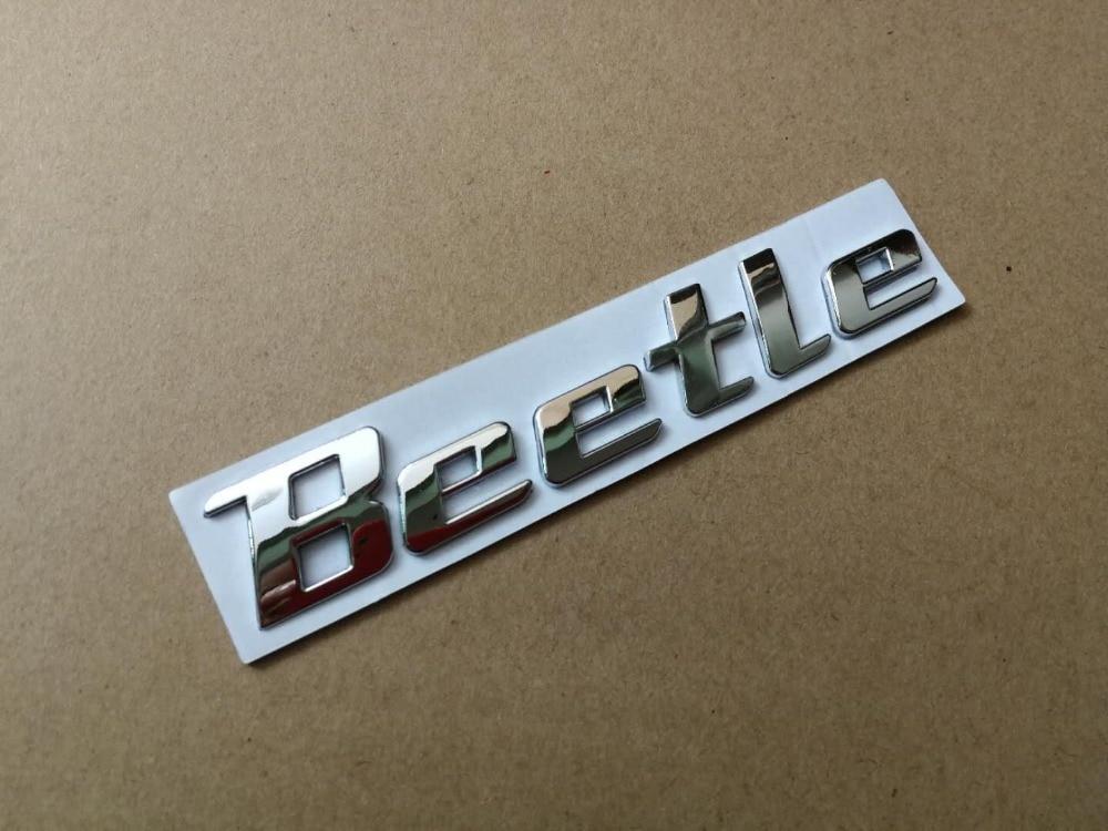 Adesivo de metal para decoração em 1x 3d, emblema beetle, carta cromada, decalque de logotipo para volkswagen vw beetle, traseiro, tronco, acessórios de decoração