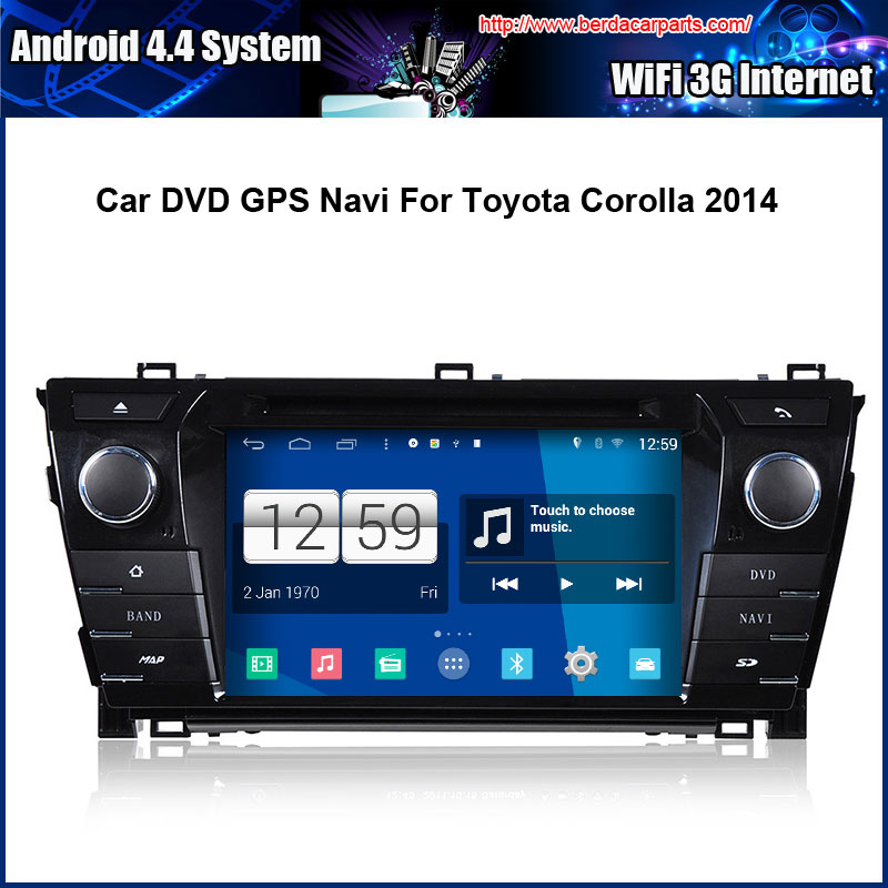 Android Car DVD player for Toyota Corolla 2014 GPS Navigation Multi-touch Capacitive screen,1024*600 high resolution.