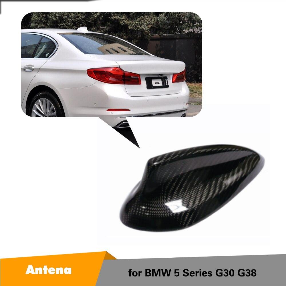 Aileron de requin Antenne Couverture TrimCarbon fibre Pour BMW 5 Série G30 G30 G38 F90 M5 520i 520d 530i 530d 540i 550i accessoires de voiture 2017
