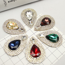(1 pair/lot) High-grade fashion gems drilled glass drill shoes flower decorated buckle decoration shoes