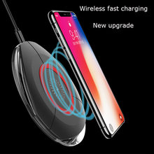 Qi Wireless Charger For iPhone X 8 Plus XR XS Max Samsung Galaxy S6 S7 edge S8 Plus note 9 8 Phone Fast Wireless Charging(China)
