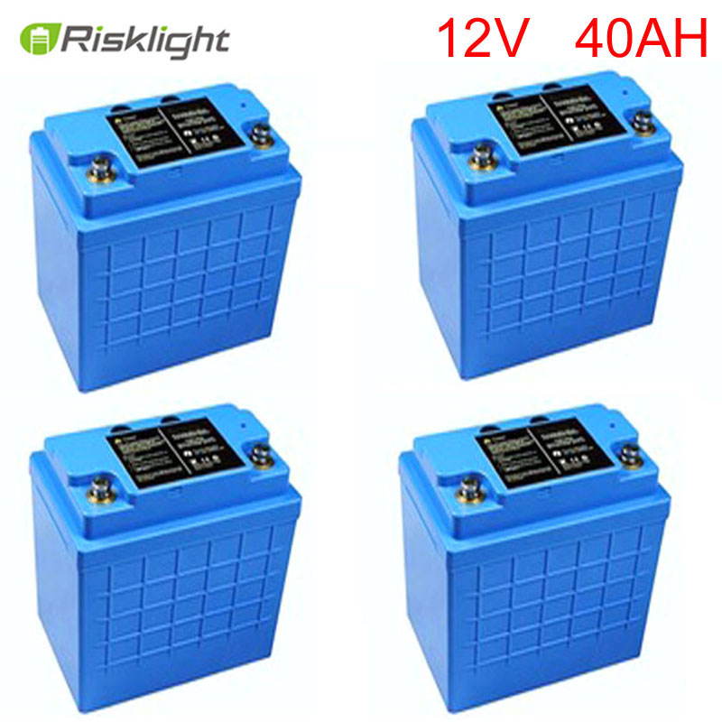 LiFePO4 Battery 12V 40Ah Lithium-ion Battery For Solar system,EV,Golf Trolley,electric bike electric bicycle case 36v lithium ion battery box 36v e bike battery case used for 36v 8a 10a 12a li ion battery pack