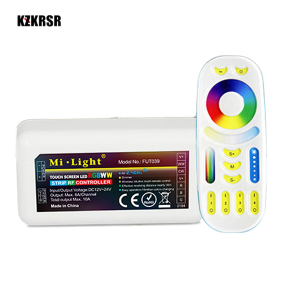 Milight 4zone wireless RF wifi control RGBCCT led remote controller with 2.4G RF RGBWW led strip controller for led strip light 2 4g milight ibox1 hub rf remote wifi ler with rgb light wireless control for milight led bulbs support ios android app dc5v