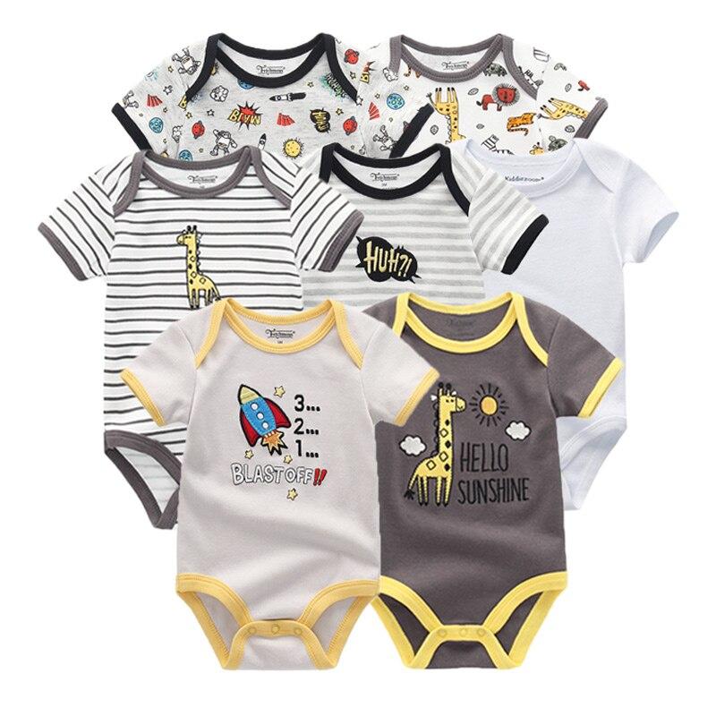 AnpassungsfäHig 2019 Baby Boy Kleidung Neugeborenen Einhorn Baby Mädchen Kleidung Bodys Overall Kleidung Sets Ropa Werden 0-12 M Kurz Hülse 7 Teile/los