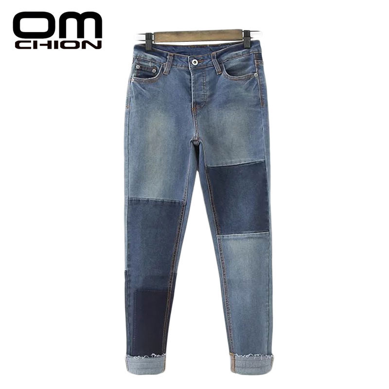 OMCHION Fashion 2017 Spring Summer Jeans Women Slim ...