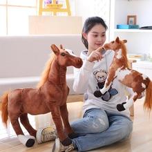 Plush-Toys Unicorn Doll Simulation-Horse Animal Soft Cute Birthday-Gift Home-Decoration