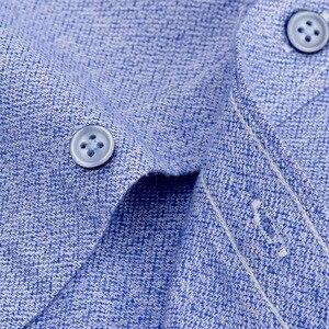Image 4 - Flannel Shirt Men Long Sleeve Shirt 100% Cotton Plaid Dress Mens Shirts Casual Slim Fit Blouse Tops Plus Size 4XL Camisas Hombre
