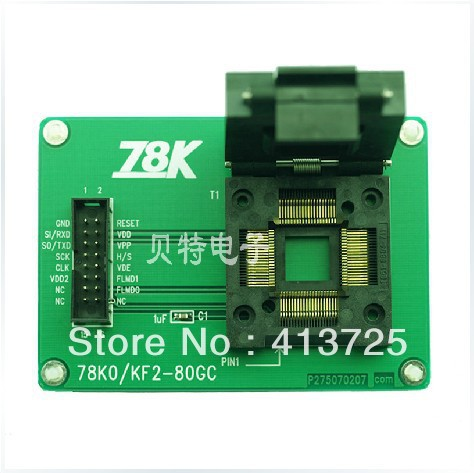 Special 78K0/KF2-80GC adapter for LQFP80 test burn program tms320f28335 tms320f28335ptpq lqfp 176