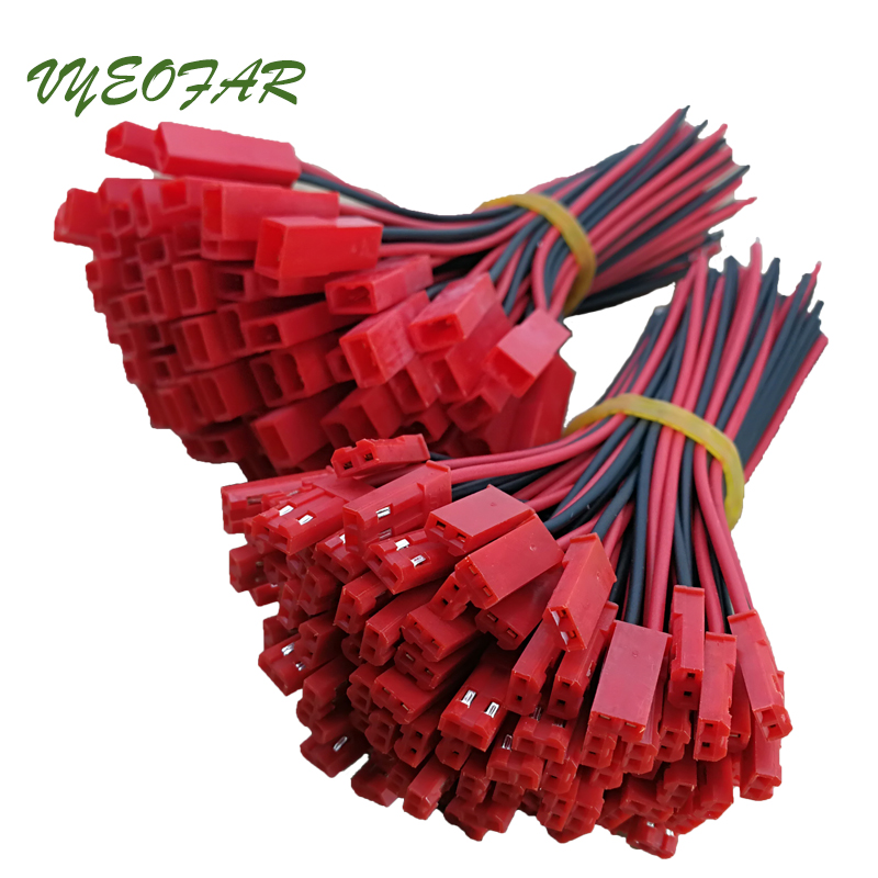 50pair <font><b>2</b></font> <font><b>pin</b></font> jst <font><b>Connector</b></font> <font><b>2</b></font> x 10cm Male female SM Wire cable pigtail for <font><b>led</b></font> <font><b>strip</b></font> light Driver CCTV <font><b>connector</b></font> DIY RC battery image
