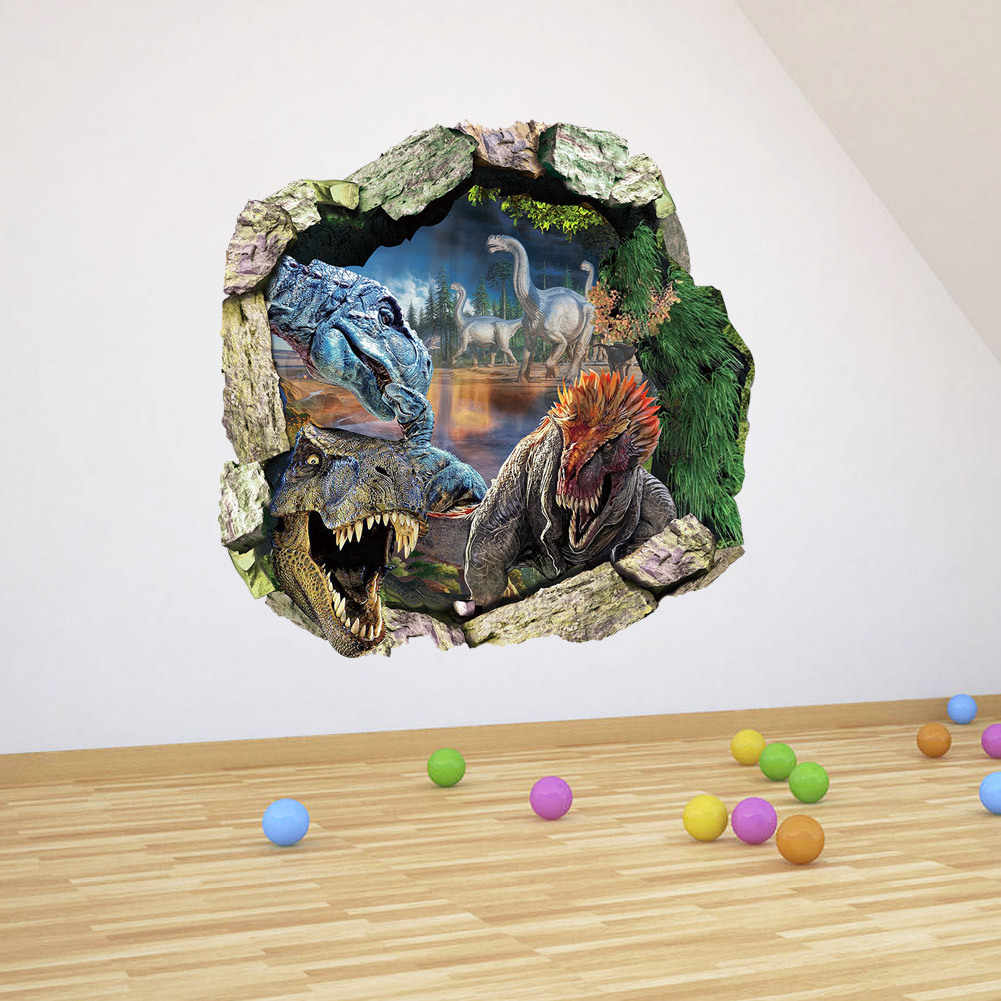 Новейший динозавр 3D стикер на стену домашние украшения с животными Детские наклейки на стену для спальни оптовая продажа водонепроницаемых съёмных