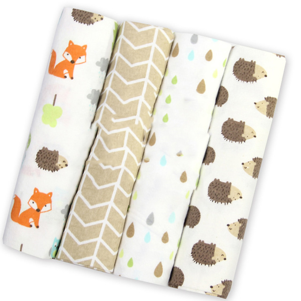 15 Styles 4Pcs/Lot Baby Blanket Newborn Muslin Diapers 100% Cotton Swaddle Blanket For Newborns Photography Muslin Swaddle Wrap