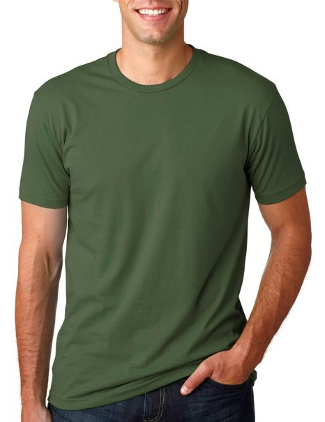 8854ea82a T-2001 Dark green mens casual cotton round neck shortsleeve blank plain t  shirt cheap wholesale 9 colors M to XXXL