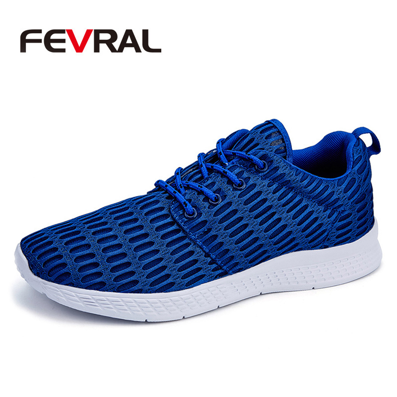 FEVRAL Size 35~48 Brand NEW Summer Men Running Shoes High Quality Men Sneakers Sport Shoes Athletic Outdoor Breathable Shoes