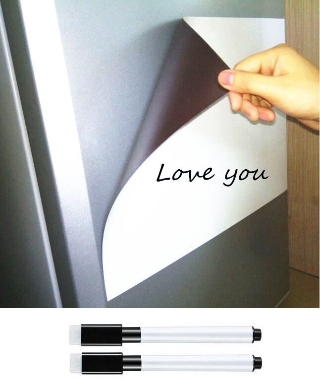 A3 Size Soft Erasable Magnetic Whiteboard For Fridge Magnet Marker Pen Home Kitchen Magnet Writing Message Board White Boards
