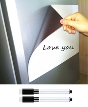 Купить с кэшбэком A3 Size Soft Erasable Magnetic Whiteboard for Fridge Magnet Marker Pen Home Kitchen Magnet Writing Message Board White Boards