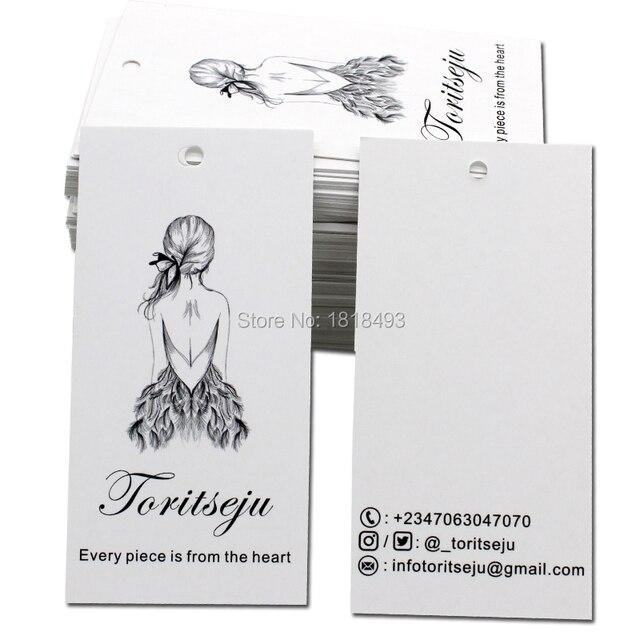 Envío Gratis ropa personalizada papel colgar etiquetas/etiquetas ...