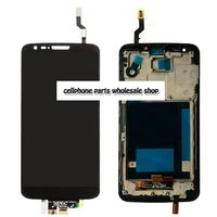 Highbirdfly For Lg G2 D802 D805 Lcd Display Touch Glass Digitizer Frame Assembly Black Color Replacement