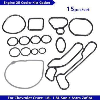 15 шт./компл. масляный радиатор двигателя система охлаждения уплотнение фильтра 24445723 55354071 для Chevrolet Cruze 1.6L 1.8L Sonic Astra Zafira
