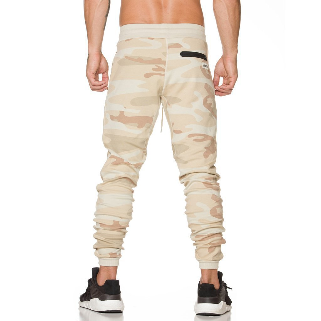 Men Sweatpants Casual Gradient Camo Pants Fitness Gym Sports Trousers Joggers
