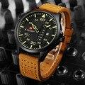 NAVIFORCE Marca Reloj de Los Hombres Reloj de Cuarzo de Moda Casual Impermeable Reloj Para Hombre de Cuero Analógico Relojes Relogio masculino LX38