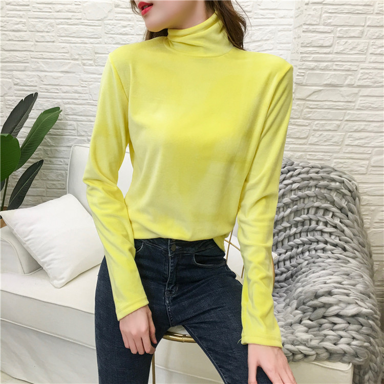 NiceMix 2019 women fashion turtleneck ins hot crop elegant long sleeve slim casual autumn winter tops
