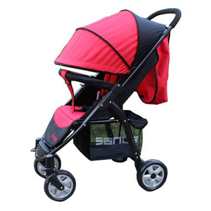 Bebé de lujo cochecito de bebé cochecito plegable ligero suspensión total asientos Punta mentira