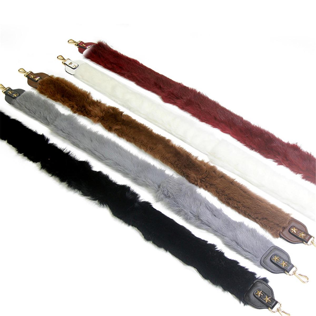 100CM Fur Shoulder Belts Leather Bag Strap Fashion DIY Replacement Bag Straps For Bag Handle Long Bands Star Gold Buckle