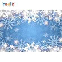 Yeele Wallpaper Snowflake Blue Room Decor Glitter Photography Backdrops Personalized Photographic Backgrounds For Photo Studio